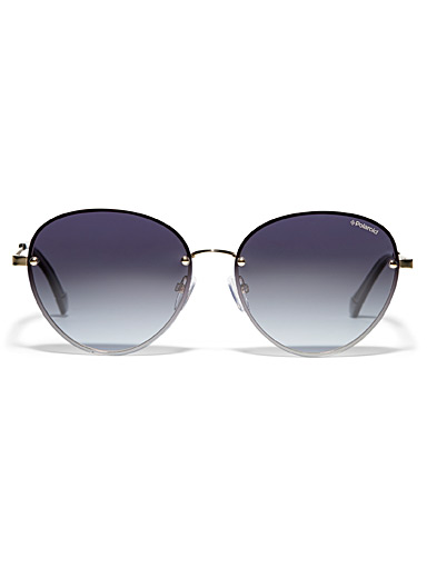 Metallic round sunglasses