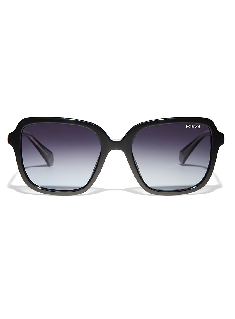Polaroid Black XL glam square sunglasses for women