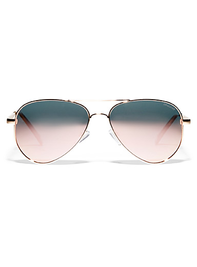 Shimmery aviator sunglasses