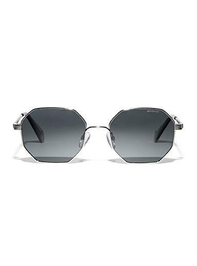 Tinted octagonal sunglasses