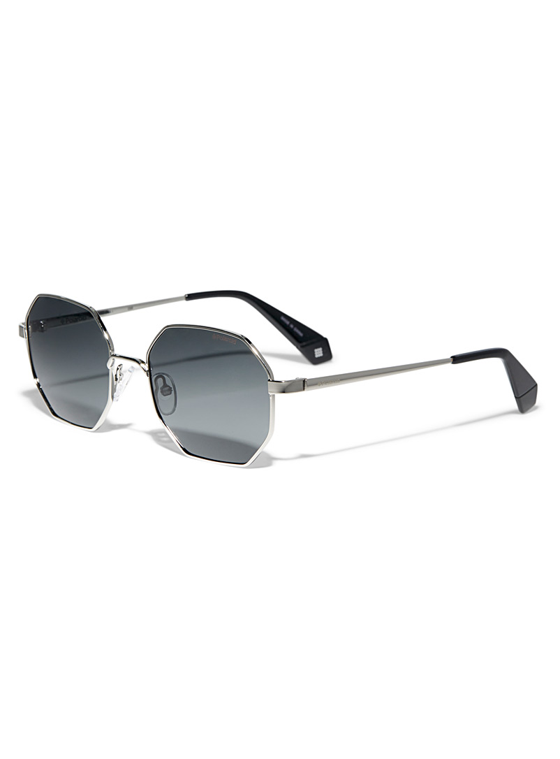 Tinted octagonal sunglasses - Others - Silver
