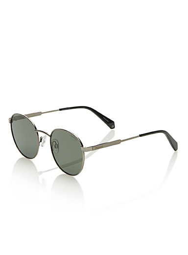 Round metallic-frame sunglasses