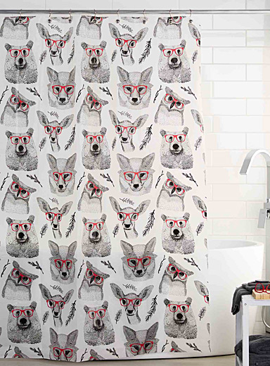 Intellectual animals shower curtain