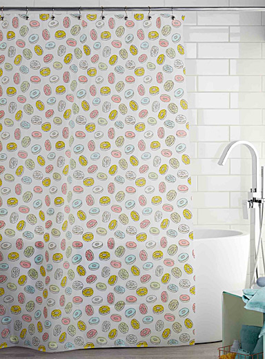 Donut worry PEVA shower curtain