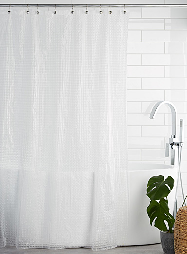 Cubic PEVA shower curtain