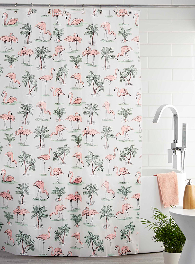 Simons Maison Assorted Pink flamingo PEVA shower curtain