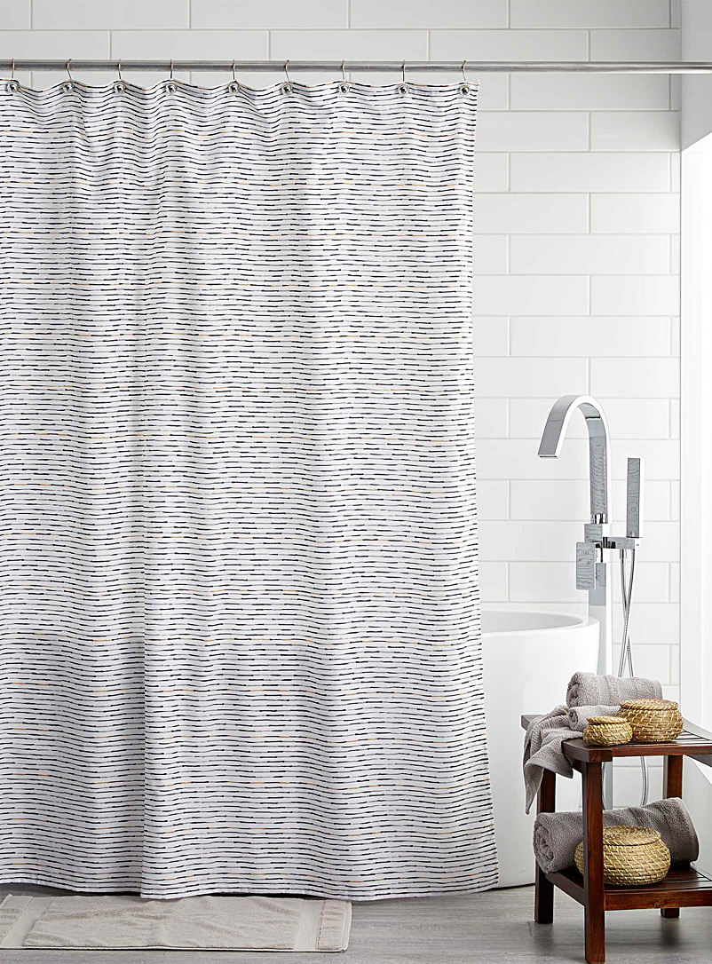 Gold line shower curtain - Fabric