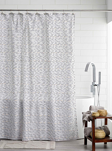 Gold line shower curtain