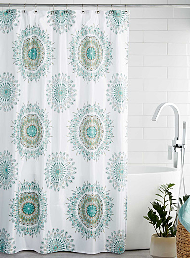 Feather medallion shower curtain