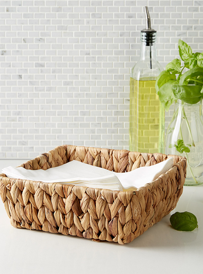 Water hyacinth napkin basket - Fruit Bowls & Baskets - Sand