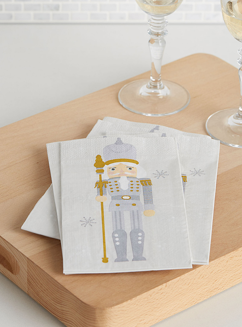 Nutcracker paper napkins  33 x 40 cm. Pack of 16. - Paper