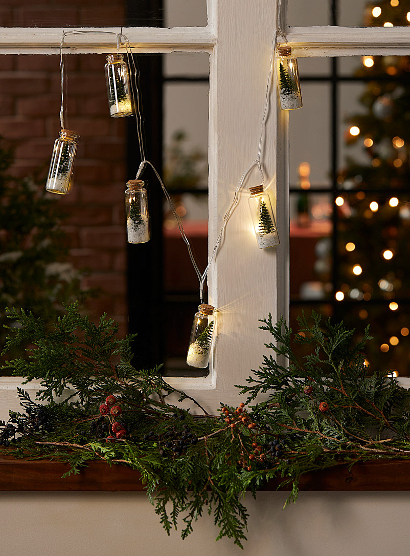 Simons Maison Green Glass jar string lights