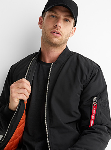 Performance nylon bomber jacket
