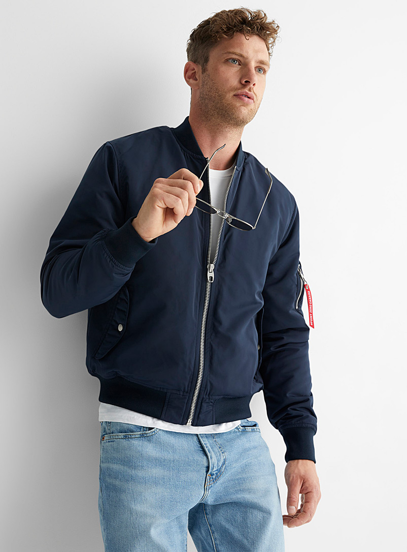 Performance nylon bomber jacket - Jackets & Vests - Marine Blue