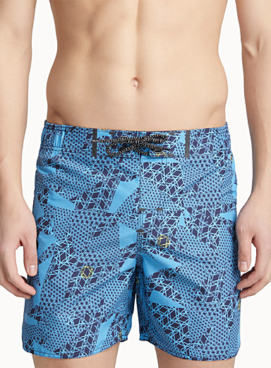 Crazy for geometrics swim trunk