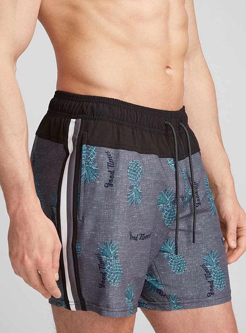 Chic pineapple swim trunk - Urban Trunks - Patterned Blue
