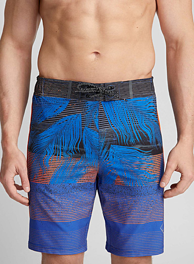 Striped foliage boardshort