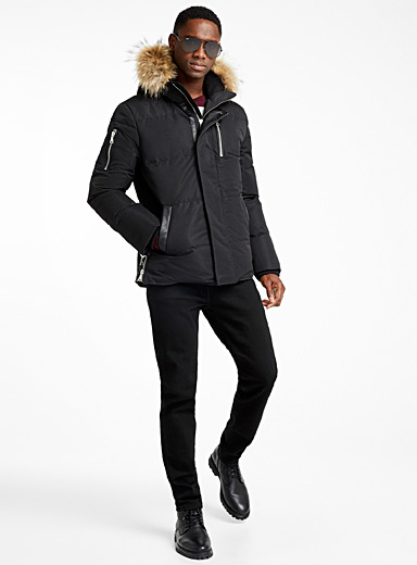 Urban monochrome puffer jacket
