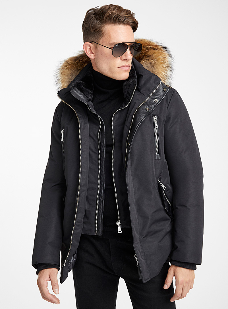 Monochrome down parka - Down Jackets - Black