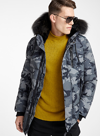Quilted camo parka