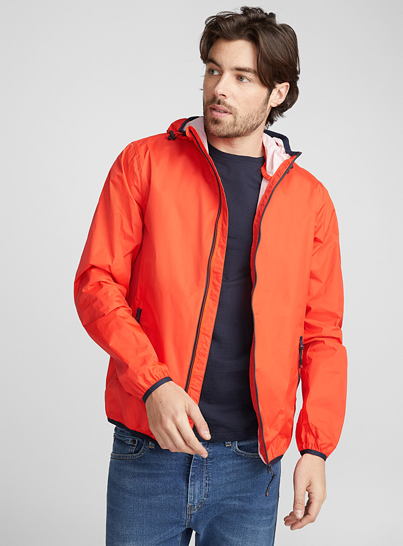Hooded light windbreaker - Raincoats & Windbreakers - Orange