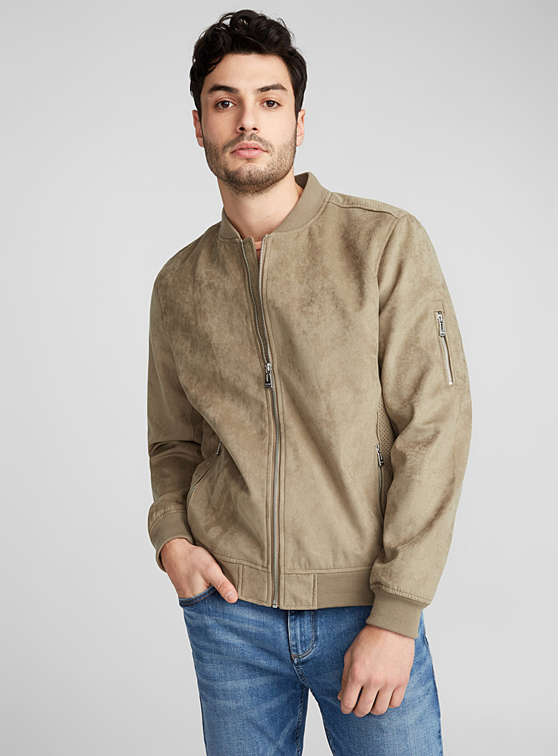 le-bomber-aspect-suede-perfore