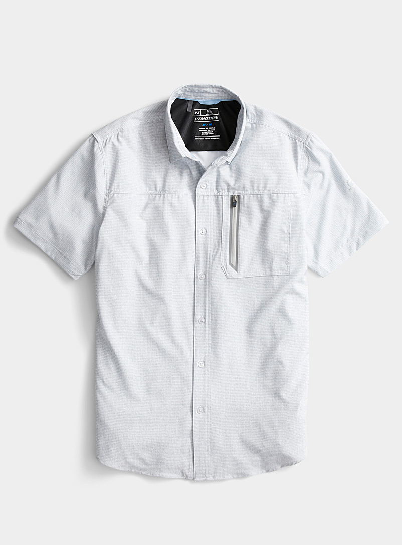 Point Zero White Chambray PZ Motion shirt for men
