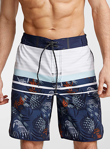 Pineapple and stripes boardshort