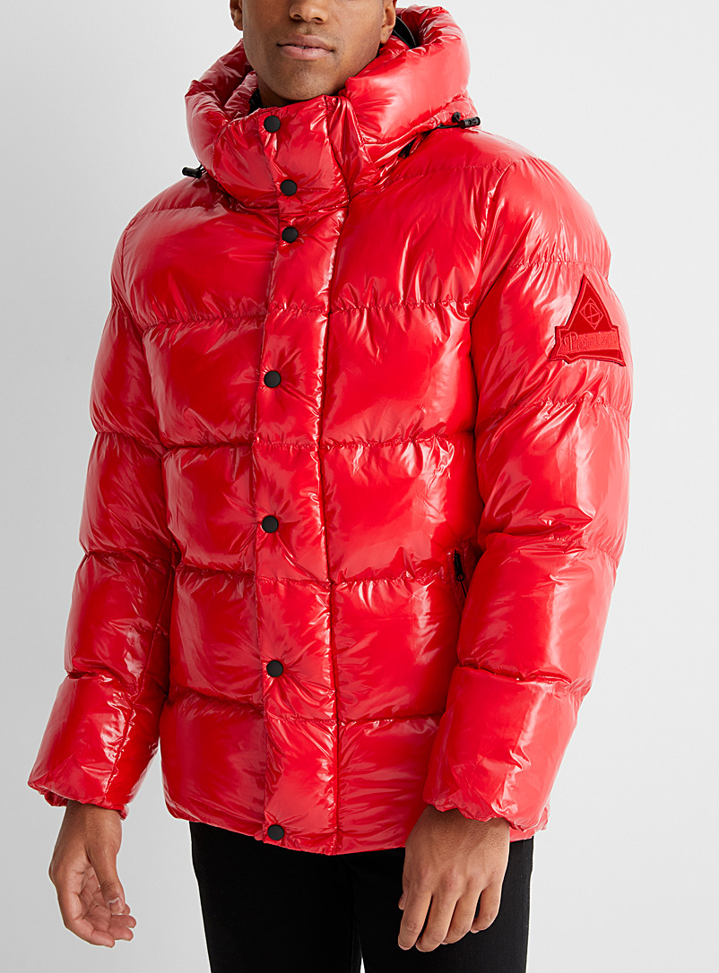 Point Zero Red Anthony shiny eco-friendly puffer jacket for men