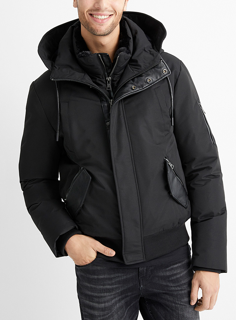 Point Zero Black Emmet down bomber jacket for men