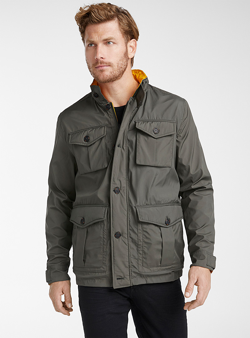 Point Zero Khaki Reversible utility jacket for men
