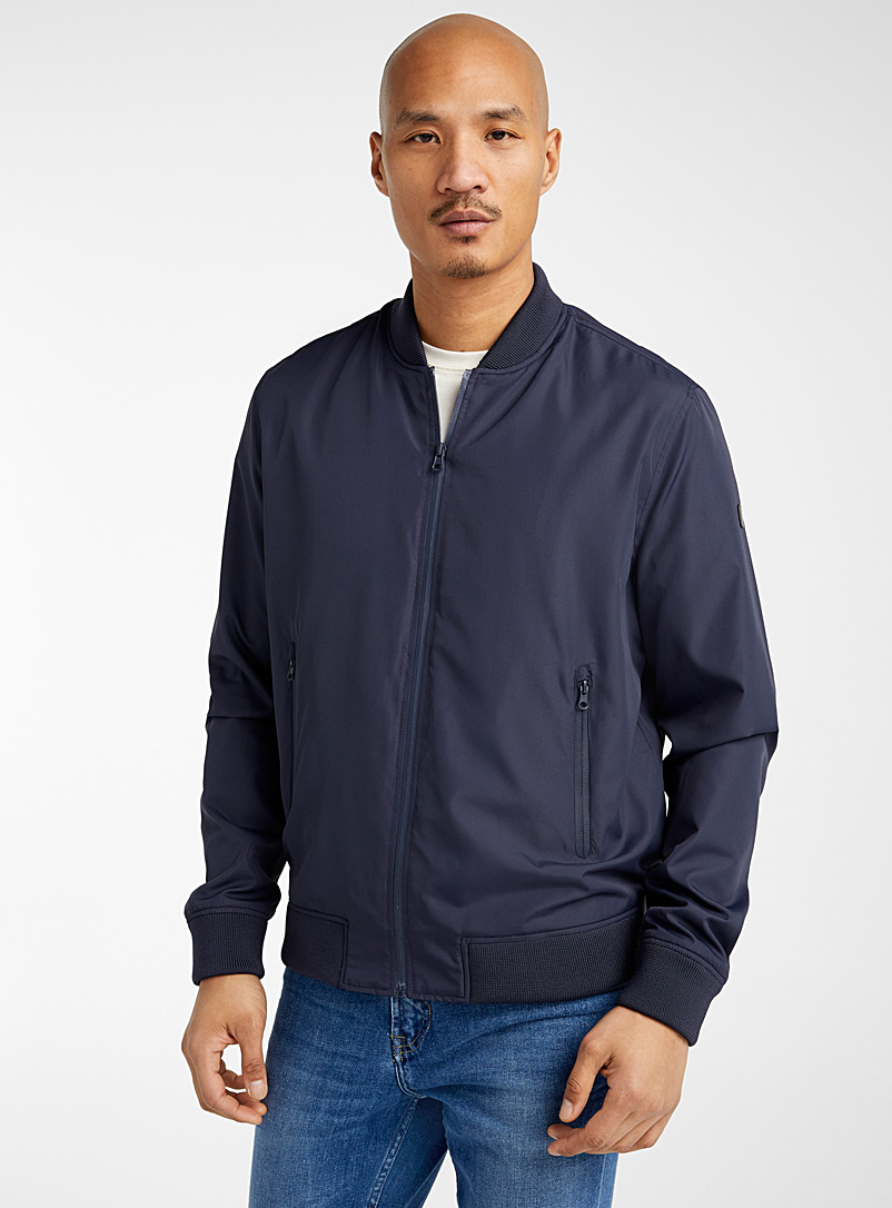 Point Zero Marine Blue Light nylon bomber jacket for men