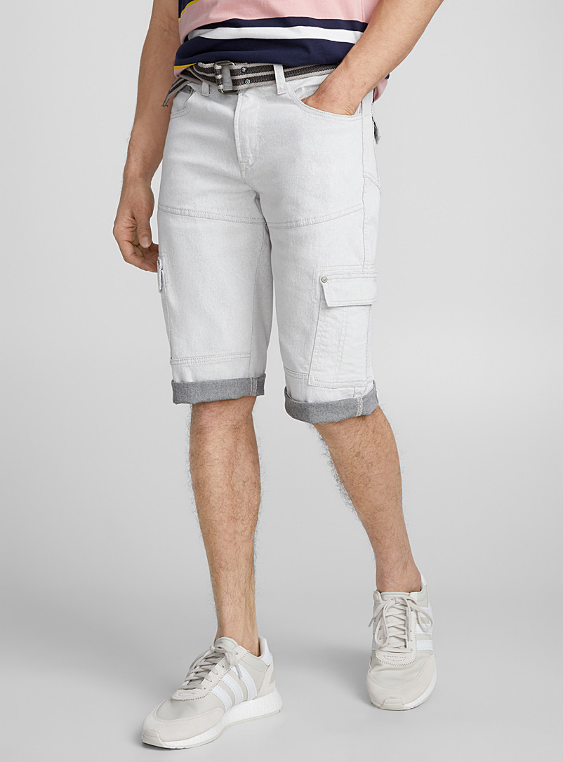 Indigo cargo bermuda - Bermudas - Light Grey