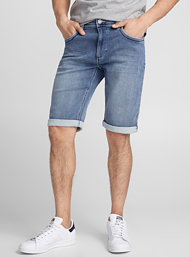 Terry grey denim Bermudas