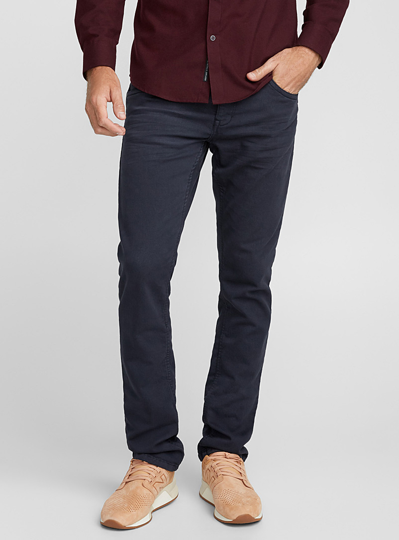 Monochrome fleece-lined jean  Slim fit - Slim fit - Marine Blue