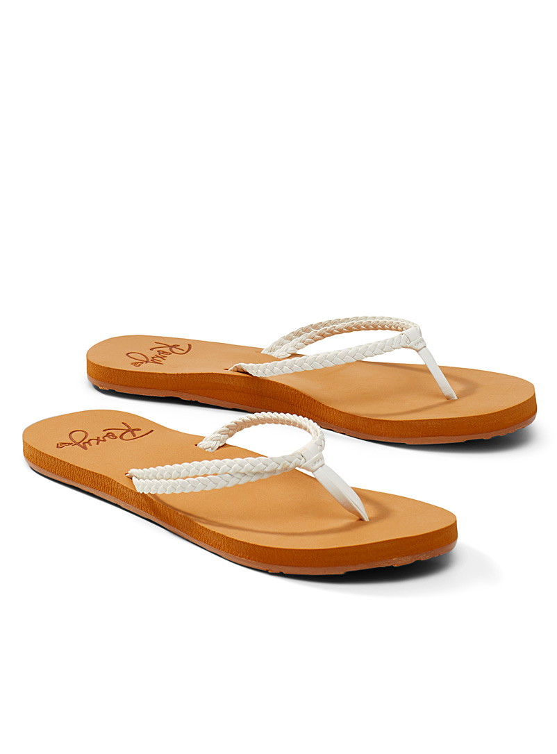 Roxy White Costas flip-flops for women