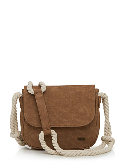 Naval cord shoulder bag