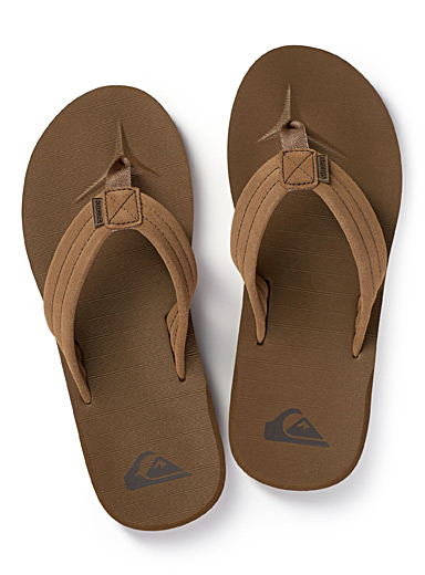 Quiksilver Fawn Carver suede flip-flops for men