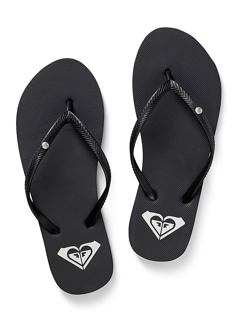 Roxy Black Bermuda flip-flops for women