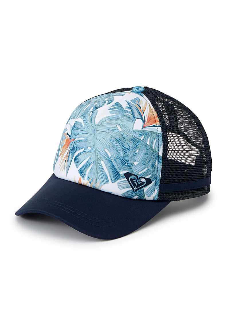 Tropical vacation trucker cap - Hats - Patterned Blue
