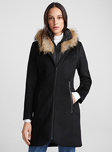 Charlena fitted wool coat
