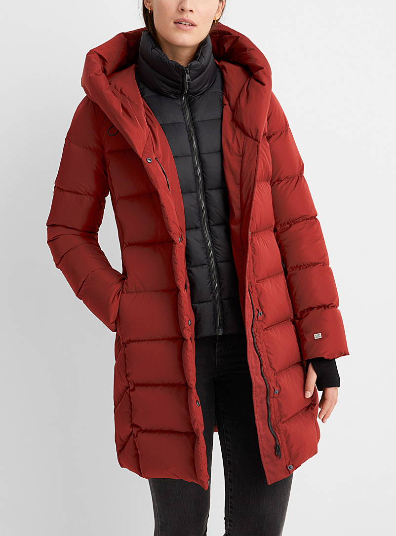 Soia & Kyo Red Sonny quilted down parka for women