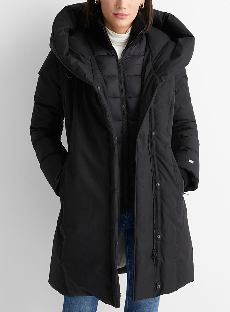 Camelia off-centre zip down parka