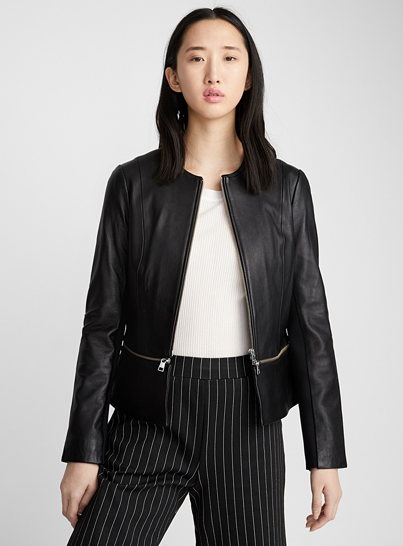 Heidi peplum jacket - Jackets and Vests - Black