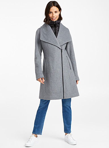 Avriel quilted collar wool coat