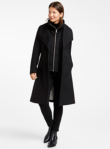 Kikky stand-up collar wool coat