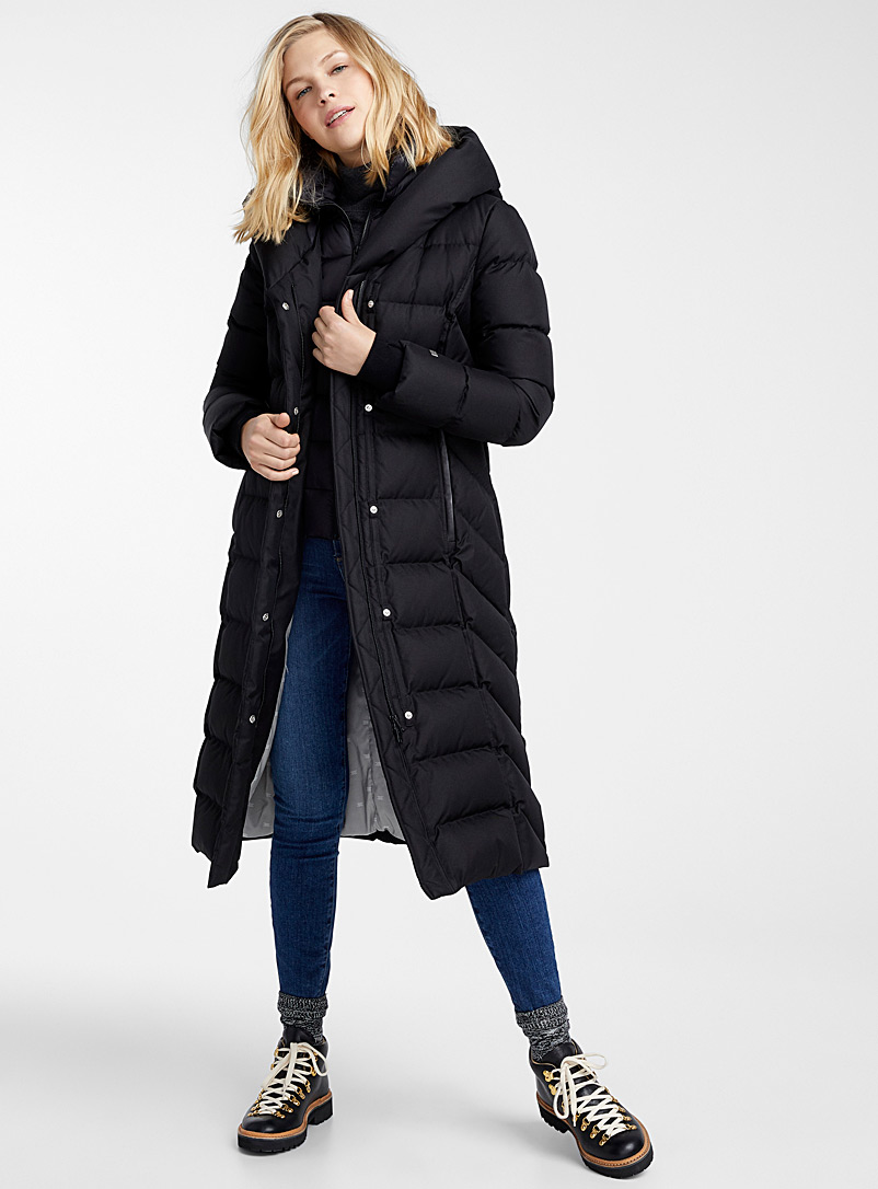 Talyse long quilted parka - Quilted and Down Jackets - Black