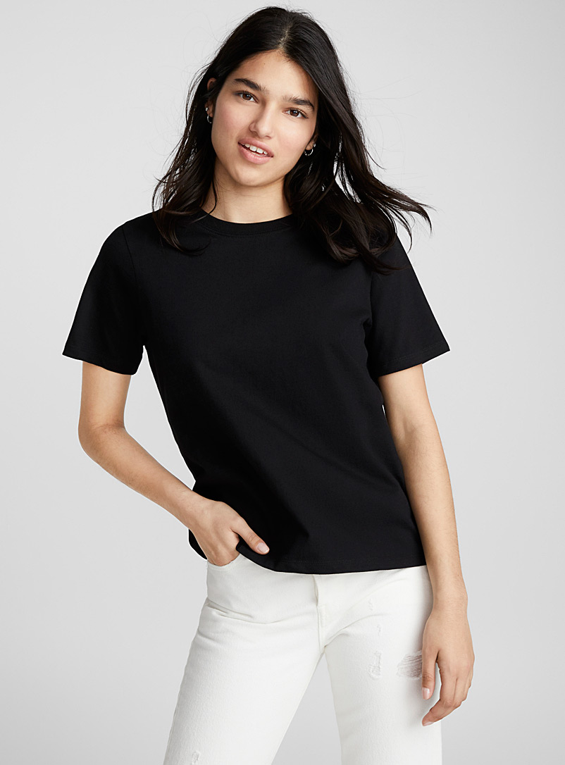 Organic cotton boyfriend T-shirt - Organic Cotton - Black