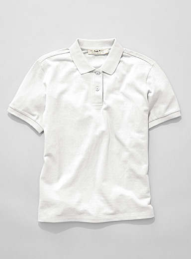 Organic cotton loose solid polo