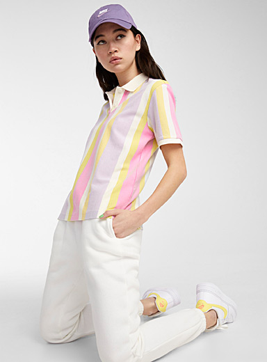 Loose colourful organic cotton polo